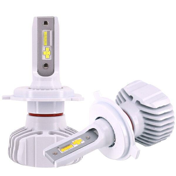 LEDヘッドライト H4 車検対応 [ 雨の日にも強い ] ファンレス 最新モデル 9000lm ホワイト JuwelMetal LH-45