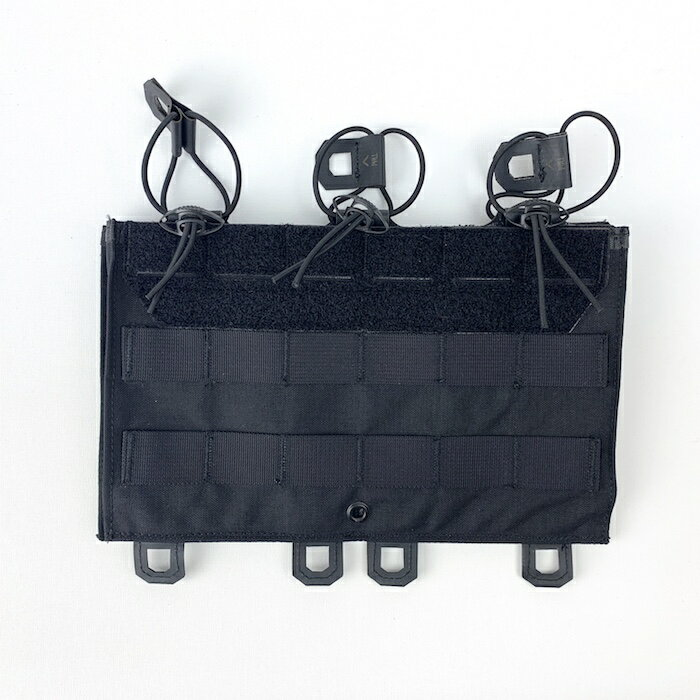 【ポイント10倍】HUSAR 3Mag Shingle シングル マグポーチ パネル Black サバイバルゲーム サバゲー ミリタリー 戦闘服 ポーランド軍 装備
