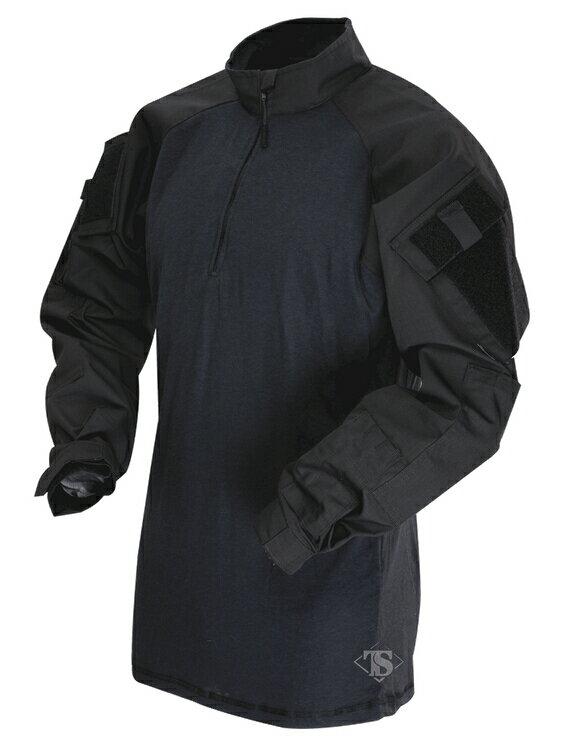 TRU-SPEC TRU 1/4 ZIP COMBAT シャツ BK XLR 2566006