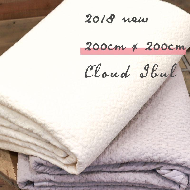 イブル クラウド 200×200cm キルティング ベビー マット 韓国のお布団 コットン プレイマット カバー 洗える ラグ イブルマット
