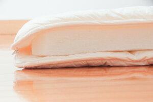 スザキーズ洗える敷布団を開いて横から見た写真