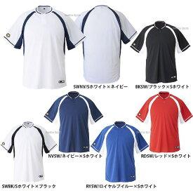 デサント ベースボール Tシャツ 半袖 メンズ (2 ボタンシャツ)DB-103B ウェア トップス ウエア ファッション 練習着 運動 野球部 春夏 野球用品 スワロースポーツ
