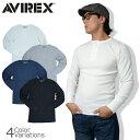 AVIREX(アビレックス) L/S THERMAL HENLEY NECK TEE ヘンリーネック サーマル 長袖 Tシャツ 6153516