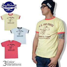 "Buzz Rickson's(バズリクソンズ) PEANUTS S/S 半袖 Tシャツ ""U.S.AIRFORCE"" スヌーピー BR77098"