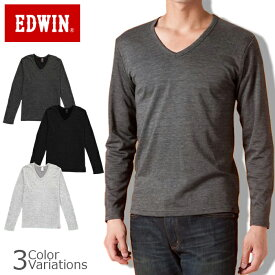 EDWIN エドウィンEDWIN BODY FIRE Vネック長袖Tシャツ 【57135】