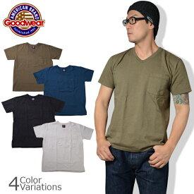 GOODWEAR(グッドウェア) ブイネック ポケット Tシャツ スリムフィット V NECK POCKET T SHIRT Slim FitGDW-001-171007