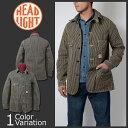 HEAD LIGHT(ヘッドライト) 11oz. BROWN HICKORY WORK COAT (11オンス ブラウン ヒッコリー ワーク コート) HD13017A