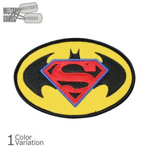 MILITARY GOODS(ミリタリーグッズ) バットマンVSスーパーマン アメコミ 刺繍パッチ ミリタリーワッペン 【ネコポス対応】