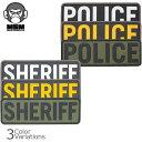 Mil Spec Monkey(ミルスペックモンキー) POLICE/SHERIFF PVCパッチ 小(50mm×150mm)