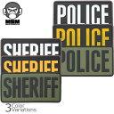 Mil Spec Monkey(ミルスペックモンキー) POLICE/SHERIFF PVCパッチ 大(75mm×150mm)