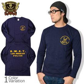 """SWAT ORIGINAL(スワットオリジナル) """"LAPD S.W.A.T"""" ロサンゼルス ポリス スワット 長袖 メンズ Tシャツ"""