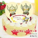 【誕生日ケーキ】ウルトラヒーローケーキ苺(いちご)スペシャル〜濃厚生クリームと二種類のイチゴの贅沢ケーキ〜【好…