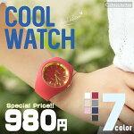 レディース腕時計/ファッションアクセサリー/ファッションシリコンCoolWATCH7OLOR選べる7種類♪ホワイトWHITEIVORYPINK