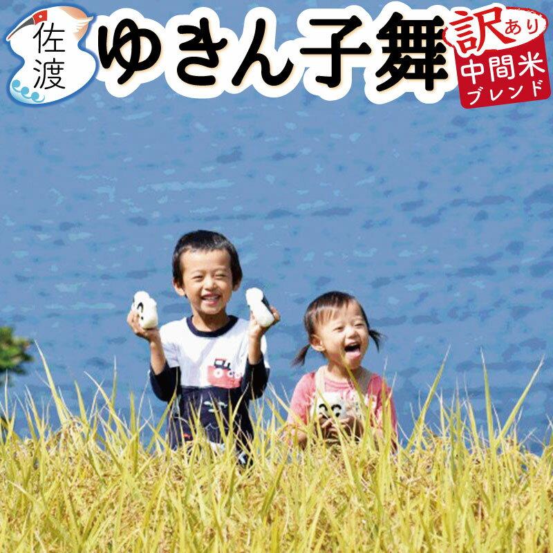 【送料無料】【訳あり】平成30年産 新潟県佐渡産ゆきん子舞中間米ブレンド 10kg(白米)【慣行栽培】【ラッキーシール対応】