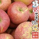 【ポイント10倍 2/3 14時より】【送料無料】【訳あり】佐渡産りんご『サンふじ』 10kg バラ入り(28〜44玉)完熟収獲だから、とっても…