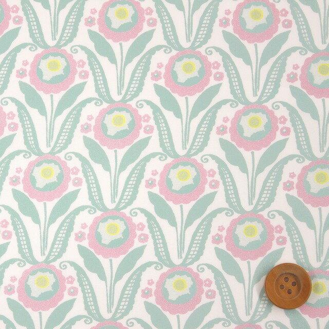 【サンドウ限定色】リバティプリント タナローン677(Sunflower Bloom ライトピンク&グリーン)サンフラワー・ブルーム【18-3638135】