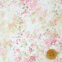 【サンドウ限定復刻色】リバティプリント タナローン生地(Umbria アンブリア)ピンク&オフホワイト【3632186・12B】