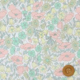 【サンドウ限定復刻色】リバティプリント タナローン8(Poppy&Daisy ポピー&デイジー)ミルキーグリーン&イエロー リバティ