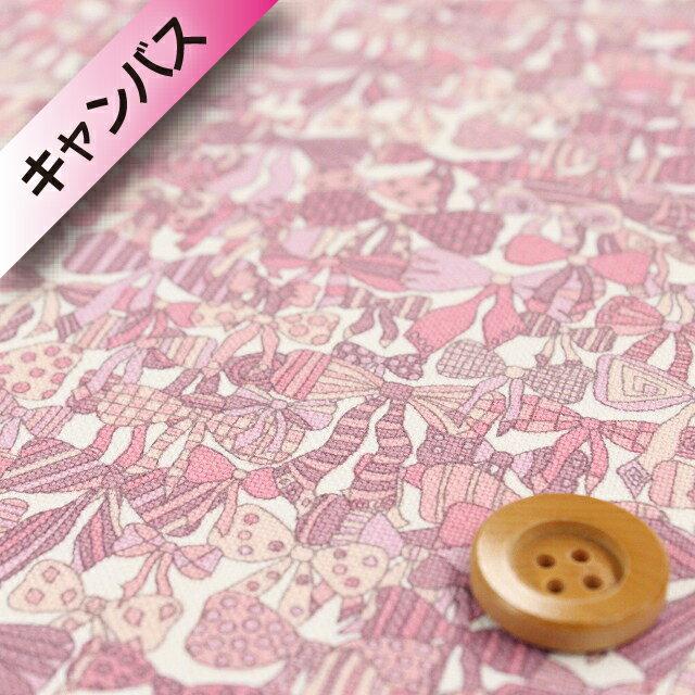 【サンドウオリジナルカラー】リバティプリント 【オーガビッツ11号ハンプ】(Jenny's Ribbons/いちごミルク)ジェニーズ・リボンズ リバティ
