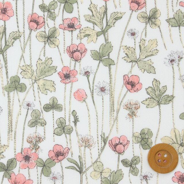 【サンドウ限定復刻柄】リバティプリント タナローン249(Josephine's Garden/ピンク)ジョセフィンズ・ガーデン リバティ