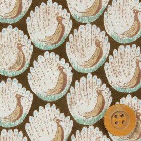 【サンドウオリジナルカラー】リバティプリント タナローン生地(Peacocks of Grantham Hall/チョコミント)ピーコックス・オブ・グランサムホール【15-3635266】 リバティ