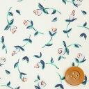 リバティプリント タナローン654(Floating Flora フローティング・フローラ)ライトブルー&グリーン【3637164・17A】