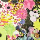 リバティプリント タナローン453(Artist's Bloom/オフホワイト&ピンク)アーティスツ・ブルーム