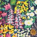 リバティプリント タナローン455(Painter's Meadow/グリーン&バイオレット)ペインターズ・メドウ