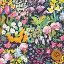 リバティプリント タナローン456(Small Painter's Meadow/グリーン&バイオレット)スモール・ペインターズ・メドウ