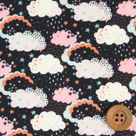 【サンドウ限定復刻色】リバティプリント タナローン515(Hiding ハイディング)ブラック&ピンク