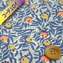 リバティプリント 【コーデュロイ】(Huckleberry ハックルベリー)ブルー【17-3637273】