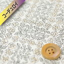 リバティプリント 【コーデュロイ】(Sleeping Rose スリーピング・ローズ)ベージュ【10-3630275】