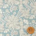 リバティプリント タナローン648(Buzz Blossom バズ・ブロッサム)ライトブルー【3637278】
