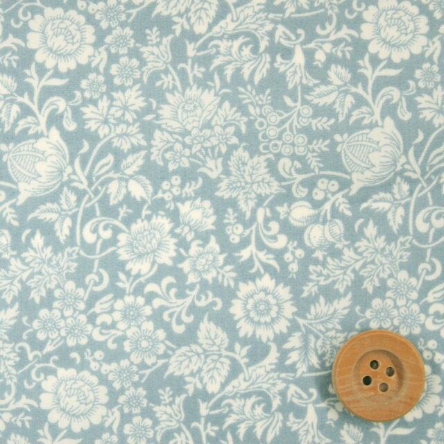 リバティプリント タナローン695(Kelmscott Garden ケルムスコット・ガーデン)ライトブルー【18-1228156】