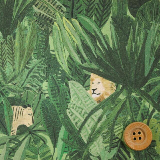リバティプリント タナローン696(Jungle Tapestry ジャングル・タペストリー)グリーン【18-1228158】