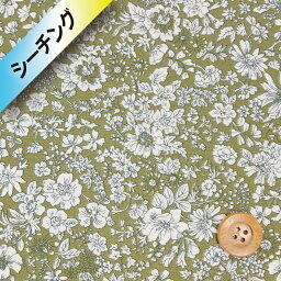 自由印刷[拉岑B棉布(shichingu)](EMILY SILHOUETTE Emilie·輪廓)綠色[04775604]