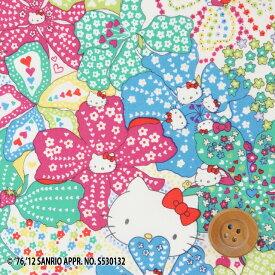 【サンドウ限定復刻色】ハローキティ × リバティプリント タナローン(Mauvey Hello Kitty エメラルドグリーン&ピンク)モービー・ハローキティ【DC27905・12D】