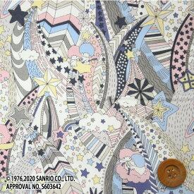 リトルツインスターズ×リバティプリント タナローン(My Starry Sky マイ・スターリー・スカイ)ネイビー&ブルー【DC30713・J20C】