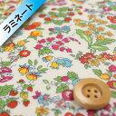 リバティプリント タナローン2【ラミネート加工】(Nancy Ann ナンシーアン)ショッキングピンク&ブルー