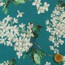 リバティプリント タナローン生地(Archive Lilac アーカイブ・ライラック)ディープブルー&ホワイト【サンドウ限定…