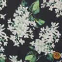 リバティプリント タナローン生地(Archive Lilac アーカイブ・ライラック)ブラック【サンドウオリジナルカラー/3635…