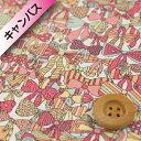 【サンドウ限定復刻色】リバティプリント 【オーガビッツ11号ハンプ】(Jenny's Ribbons/イエロー&ピンク)ジェニー…