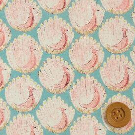 【サンドウ限定復刻色】リバティプリント タナローン生地(Peacocks of Grantham Hall/ライトブルー)ピーコックス・オブ・グランサムホール【15-3635266】 リバティ