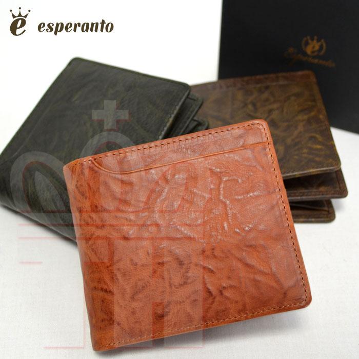 エスペラント esperanto 2つ折 革財布 エスペラントレザー ショートウォレット 日本生産 ESP-6279 esl【RCP】