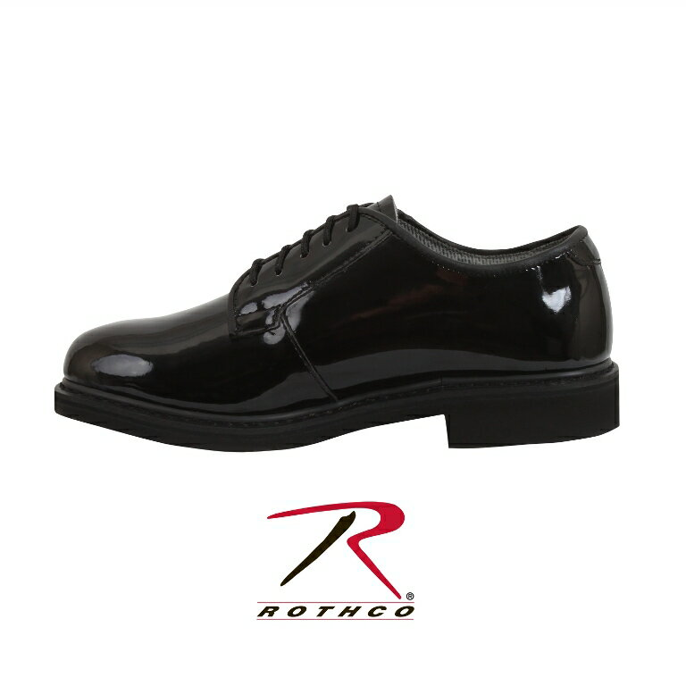 ロスコ エナメルシューズROTHCO Uniform Hi-Gloss Oxford Dress Shoe:5055