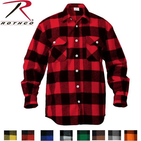 ROTHCO EXTRA HEAVYWEIGHT BRAWNY FLANNEL SHIRTS(ロスコ バファロープレイド シャツ )4739他(8色)