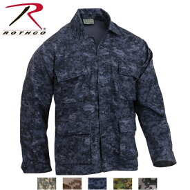 ロスコ デジタル迷彩BDUシャツジャケット/Rothco Digital Camo BDU Shirts/8695他(5色)