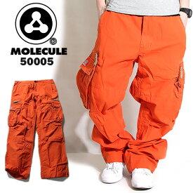 Molecule モレキュール ミリタリー カーゴパンツ オレンジ 50005 メンズ ゆったり 6ポケット カーゴパンツ ミリタリーパンツ 迷彩 パンツ ズボン だぼパン 橙色 カーゴ ストリート系 ヒップホップ ダンス 衣装 かっこいい B系 黒 ワークパンツ 大きいサイズ