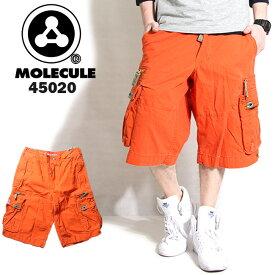 Molecule モレキュール ミリタリー ハーフパンツ オレンジ 45020 メンズ カーゴパンツ 6ポケット カーゴ ハーフ ショート ミリタリーパンツ 半ズボン パンツ ズボン だぼパン 橙色 ストリート系 ヒップホップ ダンス 衣装 かっこいい B系 大きいサイズ