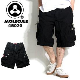 Molecule モレキュール ミリタリー ハーフパンツ ブラック 45020 メンズ カーゴパンツ 6ポケット カーゴ ハーフ ショート ミリタリーパンツ 半ズボン パンツ ズボン だぼパン 黒 ストリート系 ヒップホップ ダンス 衣装 かっこいい B系 大きいサイズ
